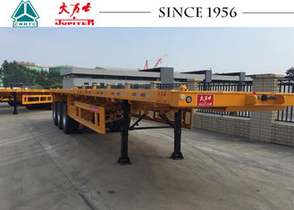 40 FT Flatbed Trailer With Spring Suspension For Container Transport
