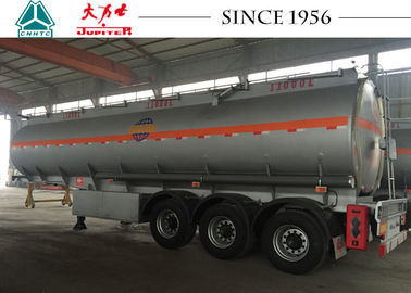 3 Axles 33000 Liters Fuel Tanker Trailer High Durability With BPW Axles