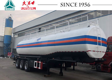 39000 Liters Fuel Tanker Trailer High Safety Factor For Carrying Fuel / Diesel