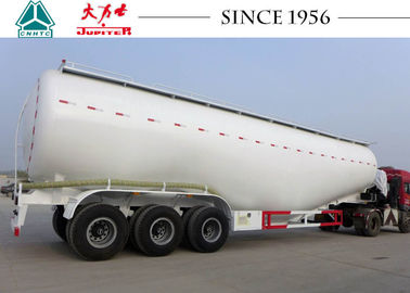 Heavy Duty Dry Bulk Cement Trailers V Shape 80 Tons Payload For Carrying Coal Ash