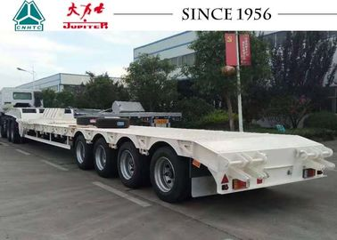 70 Tons 4 Axle Low Bed Trailer Lowboy Trailer To Carry Container And Equipment