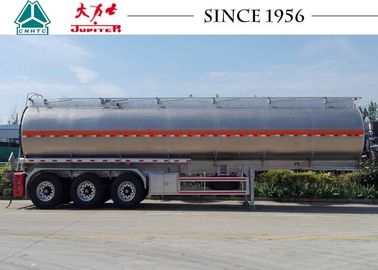 Durable 3 Axle Aluminum Road Tanker Trailer For Carry Crude Oil / Ethanol