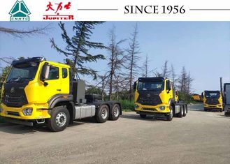 HOWO 6X4 Tractor Truck With Extra Fuel Tank Long Distance Transporation