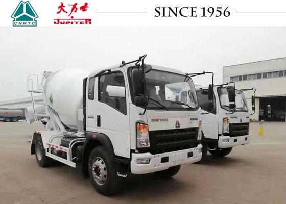 HOWO 4CBM 6 Wheeler Concrete Mixer Truck With Euro IV Engine